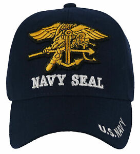 NEW! US NAVY SEAL USN BALL CAP HAT NAVY