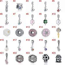 European Silver Charms Gem Star Beads CZ Xmas Pendant Fit 925 Sterling Bracelets