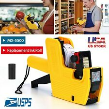 8 Digits Price Numerical Tag Gun Price Label Marker Tagger Mx 5500 With Sticker