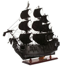"Black Pearl Caribbean Pirate Tall Ship 37"" - Handcrafted Wooden Ship Model NEW"