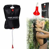 Portable 20L Solar Camping Shower Outdoor Hiking Heated Bathing PVC Water Bag