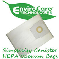 Simplicity Canister HEPA Vacuum Bags *Type H (6pk) Fits Full Size Canisters