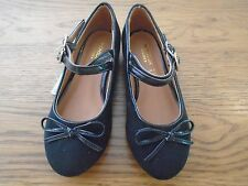 BNWT girls black suede/patent shoes. Monsoon.  RRP £20. Sz 8    1/7
