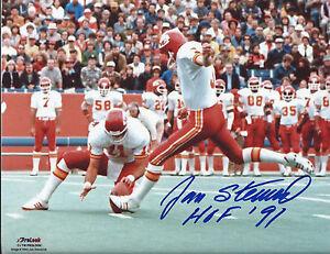 KC Chiefs Kicker JAN STENERUD Signed 8X10 Photo #3 AUTO  w/ HOF '91