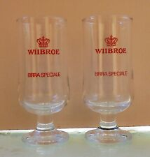 Wiibroe Beer Set Of Two Vtg Glasses