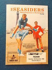 Blackpool V Fulham programma 16/12/89