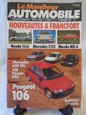 MONITEUR  AUTO 986 MERCEDES 600 SEL - VW PASSAT - PEUGEOT 106 XSI
