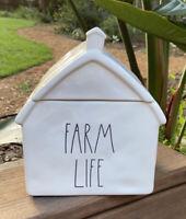 Brand new Rae Dunn FARM LIFE Barn Canister Cookie Jar