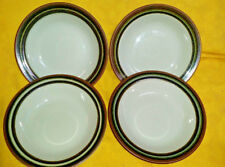 "Set of 4 Arabia Finland Karelia Rimmed Bowl 6 5/8"" Cereal Oatmeal #18 mark base"