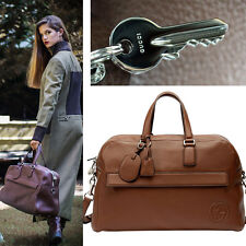 NEW $1890 GUCCI Brown GG SOHO Leather Duffle CARRY ALL Large Travel WEEKEND BAG