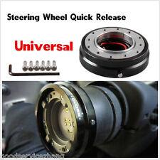 Car black Steering Wheel Quick Release Hub Adapter Snap Off Boss Kit with screws
