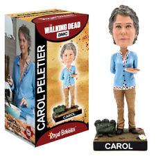 """ROYAL BOBBLES WALKING DEAD CAROL PELETIER 8"""" BOBBLE HEAD FIGURE BRAND NEW IN BOX"""