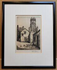 All Saints Church, York. Original Etching by listed artist Willie Rawson c1900