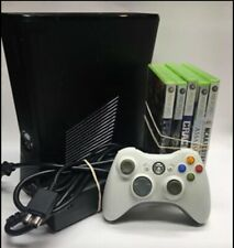 Xbox 360 S Console 250 gb Used with Controller, Cables, and 5 Games Tested-WORKS
