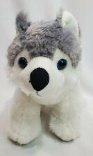 "12"" Fiesta Great Wolf Lodge Rare Grey Husky Dog Plush with Logo"