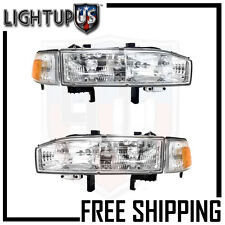 Headlights Headlamps Pair Left right set for 90-91 Honda Accord