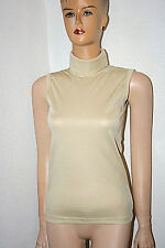 Original 50er Jahre Glanz Nylon Pulli Shirt Pullover Gr. 40 Creme Vintage Retro