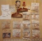 Vintage Model Airplane pilot heads or figures lot Williams Brothers 1/12 scale