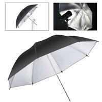 "Studio Umbrella 43"" Reflective Flash Photo Black Silver Soft Light Photography"