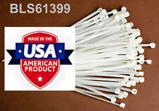 200 Usa Made Tough Ties 4 Inch 18lb Nylon Tie Wraps Wire Cable Zip Ties White