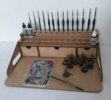 Hobby Work Station 26 Peintures Vallejo Rack Portable Vallejo Paint Station 40k