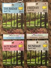 2011 Masters Badge Set (4) - Augusta National Tickets - Same Serial Numbers Rare