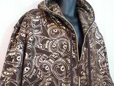 Money Roll Hoodie Sweatshirt Raw Blue Metallic Short Sleeve Full Zip Size 3XL