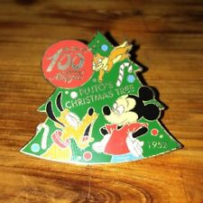2001 DISNEY STORE 100 YEARS OF MAGIC SERIES PLUTO'S CHRISTMAS TREE PIN LE