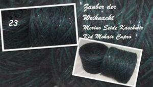 """1000g  2200m Wolle  """"Zauber der Weihnacht""""  Wolle Seide Cupro 3,00€/100g"""