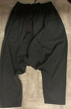 Authentic Yohji Yamamoto Regulation 3 Black Drop Crotch Pants L