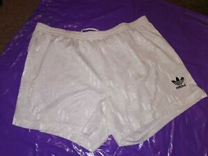 "Men's Adidas Sports Shorts Vtg polyester Football  gym fitness Large 36"" White 2"
