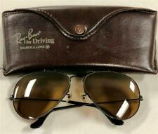 Vintage Ray Ban / Bausch & Lomb driving Aviator Sunglasses Gold w/ original case