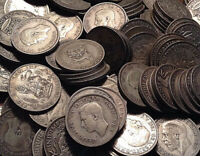 1920 TO 1946 UK GB GREAT BRITAIN .500 SILVER SHILLING BUY 1 OR MORE ITS FREE S/H