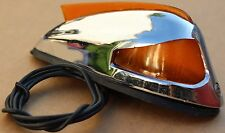 Harley Front Fender Lamp Amber Lens Fits 1949-1957 Panhead Vintage Repop (U-1652