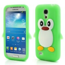 Samsung Galaxy S4 Mini Soft Silikon Case Pinguin Cute 3D Schutz Hülle Cover Grün