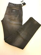 7 FOR ALL MANKIND (slimmy the slim)  distressed jeans size 36W 32L in dark grey