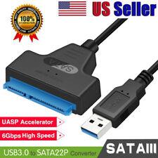 Super Speed USB 3.0 to SATA 22 Pin 2.5 Hard disk drive SSD Adapter US Seller