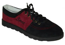New Black red Burgundy Casual Sneakers lace up Sport tennis Men's Shoes size 8