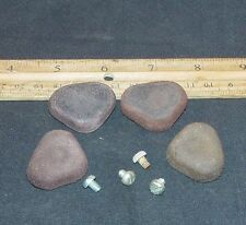 4 Vintage Replacement Feet For Western Electric 302 Telephone w/ Screws !