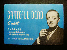 Grateful Dead Backstage Pass Peter Lorre Hollywood Movie New York NY 3/24/1994