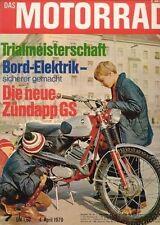 M7007 + 5.000 km BULTACO Metralla + MOTO PATON die Story + Das MOTORRAD 7/1970