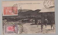 1924 Djibouti Real Photo postcard cover to France RPPC The Frontier