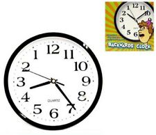 NEW BACKWARDS WALL CLOCK funny novelty time clocks decor weird running novelties