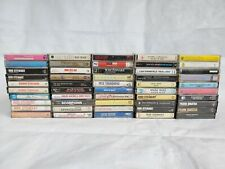 Vintage Cassettes Tape Lot Of 50 Pics Show Titles Great Titles 1960-1990's #1
