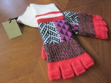 BURBERRY Patterned Cashmere Fingerless Fairisle Mult-Colored Gloves - NWT $195