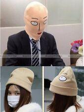 Anime One Punch Man Saitama Head Hat Cap Full Mask Cosplay Costume Winter