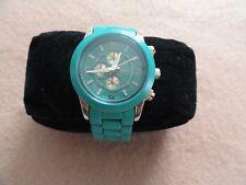 Ladies Bongo Quartz Watch - Turquoise and Gold Color