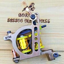 BORDER TATTOO MACHINE, LINER CUSTOM IRON OIL-TREATED FRAME CUSTOM 8 LAYER COILS