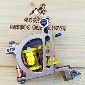 """LINER"" BORDER TATTOO MACHINE,CUSTOM IRON OIL-TREATED FRAME CUSTOM 8 LAYER COILS"
