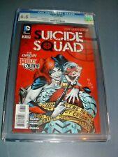 SUICIDE SQUAD #7 CGC 6.5 WP KEY RARE 2nd PRINT ORIGIN HARLEY QUINN 2012 new 52